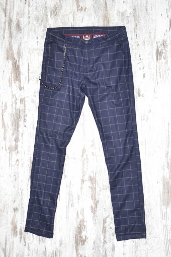 A17P012    0002 CHINOS ENGLAND CHECK Blue