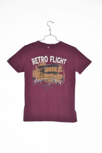 A17T007    0083 T-SHIRT FLIGHT bordeaux
