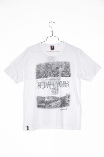 A17T015    0016 T-SHIRT NEW YORK Off White