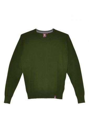A17M001    0077 ROUND - NECK BASIC Dark Green
