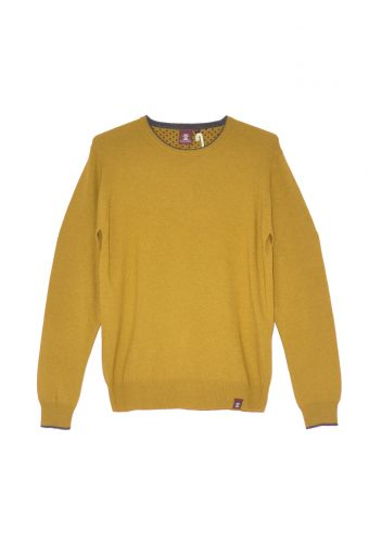 A17M005    0010 ROUND NECK CASHMERE Yellow