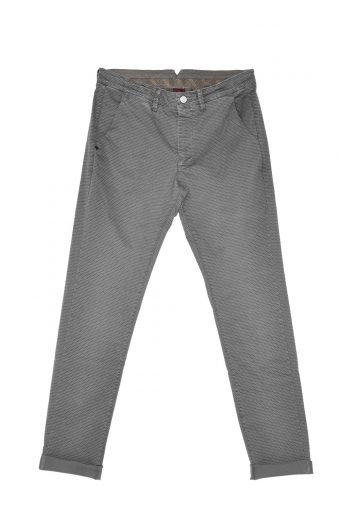 A17P002    0009 CHINOS PRINT Dark gray