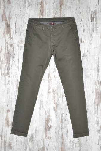 A17P014    0078 CHINOS PRINT charcoal gray