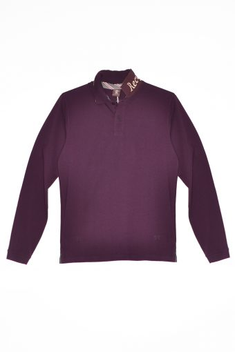 A17PS003   0083 POLO RECYCLED bordeaux