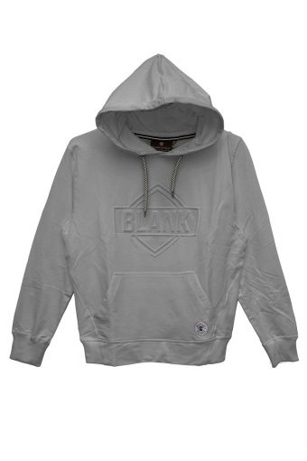 S18F002    0037 HOODIE FLEECE EMBOSSED 65%CO 30%PL 5%EL Grey Melange
