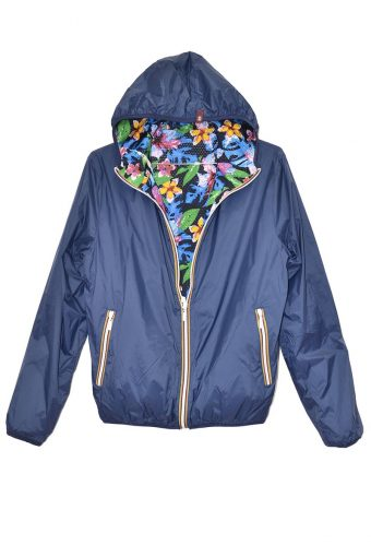S18J003    0002 REVERSIBLE WIND JACKET 100%NY Blue
