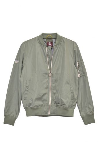 S18J004    0071 BOMBER JACKET 100%PL (SHELL) / 100% JERSEY CO (LINING) Military Green