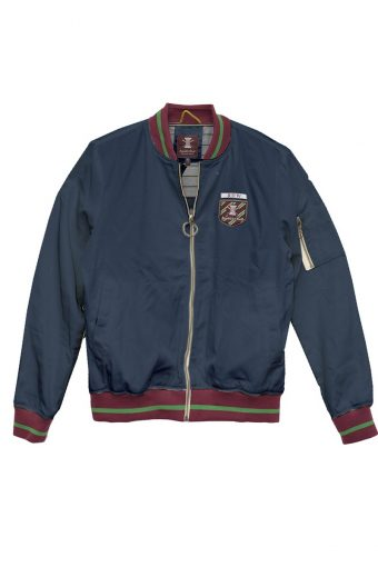 S18J005    0002 CLUB BOMBER JACKET 100%PL (SHELL) / 100% JERSEY CO (LINING) Blue