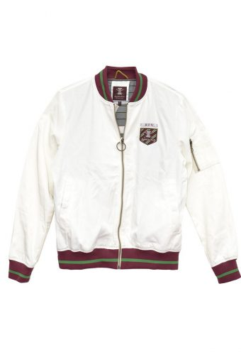 S18J005    0016 CLUB BOMBER JACKET 100%PL (SHELL) / 100% JERSEY CO (LINING) Off White