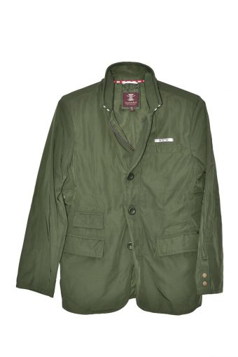 S18J008    0071 4 POCKETS JACKET 100% PL Military Green