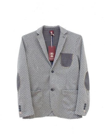 S18J014    0061 Y/D JACKET CO/EL INTERLOCK Gray
