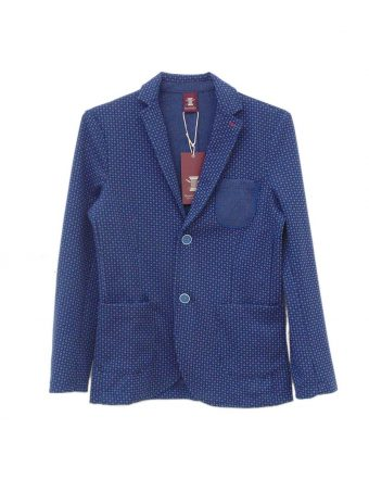 S18J015    0002 Y/D JACKET CO/EL INTERLOCK Blue