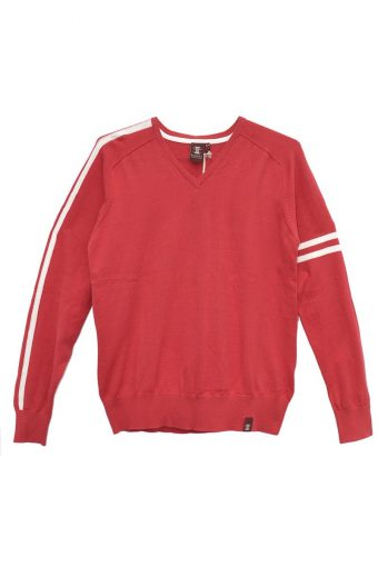 S18M011    0094 CLUB SWEATER 100%CO Red