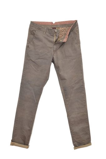 S18P002    0038 CHINOS ALLOVER PRINT 98%CO 2%EL Sand