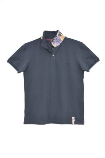 S18PS002   0002 POLO FLOWER 95% 5%EL Blue