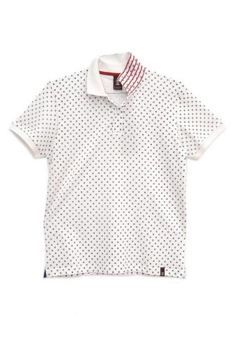 S18PS003   0016 POLO ALLOVER PRINT 100% PIQUET CO Off White