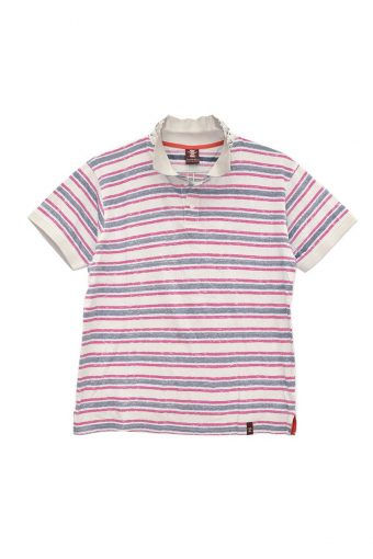 S18PS006   1683 POLO STRIPES VINTAGE 100%CO Off White - Beaujolais