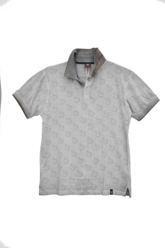 S18PS009   0061 POLO WAKE UP 100% JERSEY CO - treatment cold dye Gray