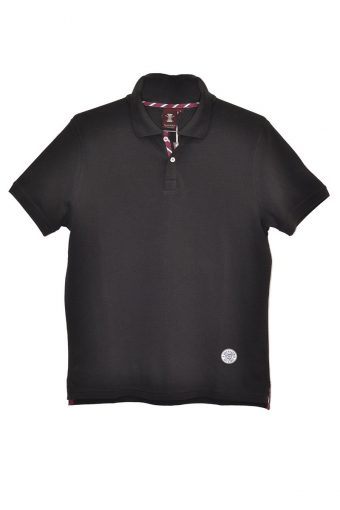 S18PS011   0090 POLO JACQUARD 100%CO Black