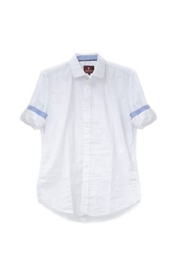 S18S002    0016 SHIRT POIS 98%CO 2%EL Off White