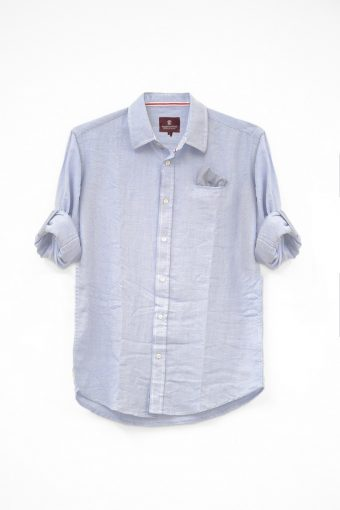 S18S010    0045 SHIRT SCALEA 100%CO Light Blue