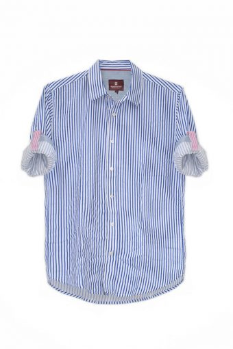 S18S016    0003 SHIRT STRIPES 100%CO Royal