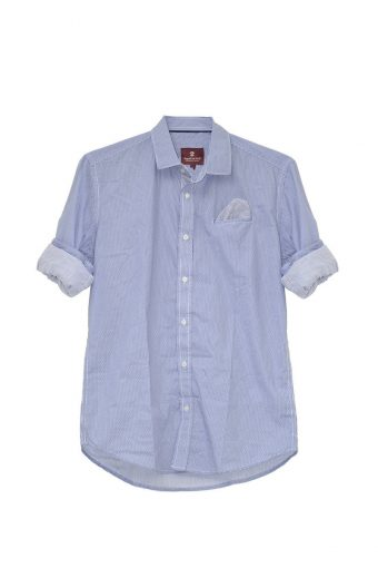S18S019    0002 SHIRT PONZA 98%CO 2%EL Blue