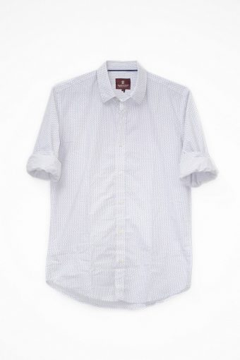 S18S021    0016 SHIRT MUSIC LIGHT 98%CO 2%EL Off White