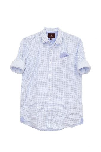 S18S024    0045 SHIRT ANGORA 98%CO 2%EL Light Blue