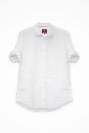 S18S028    0050 SHIRT OXFORD PLAIN 100%CO OXFORD Ice Flow - Optical White