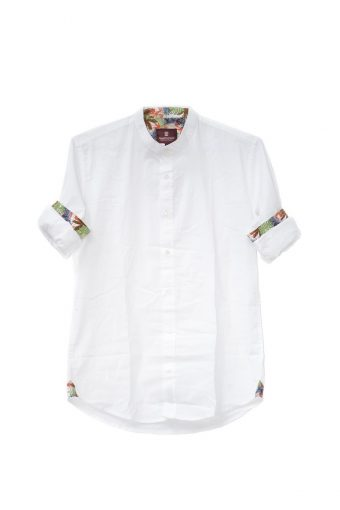 S18S031K   0016 SHIRT HAWAII 98%CO 2%EL Off White