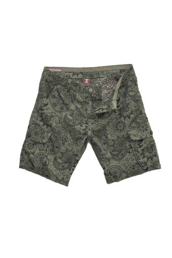 S18SH009   0071 CARGO SHORTS CASHMERE 100%CO military green