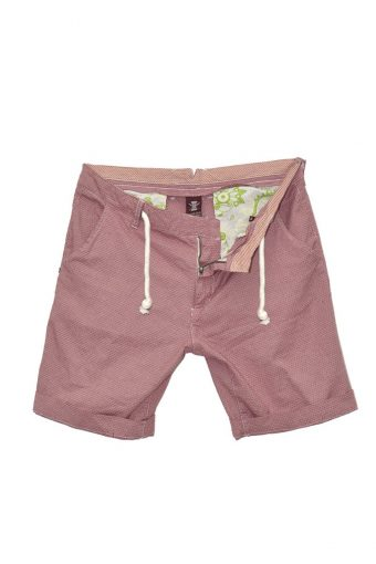 S18SH017D  0094 CHINOS SHORTS Y/D WITH DRAWCORD 98&CO 2%EL Red