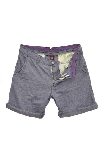 S18SH018   0002 CHINO SHORTS Y/D 100%CO Blue