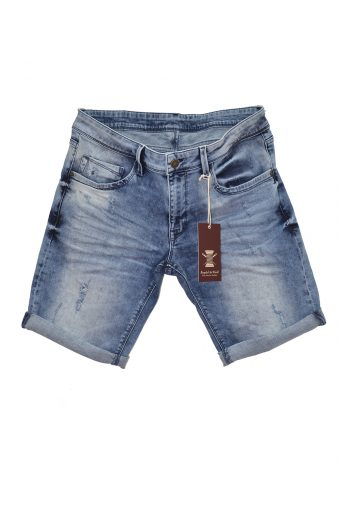 S18SHJ002  0049 SHORT DENIM 100%CO DENIM light demin-blue demin