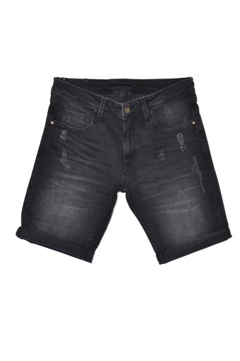 S18SHJ003  0090 SHORT DENIM 100%CO Black