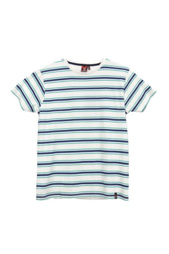 S18T003    0016 T-SHIRT STRIPES 100%CO Off White