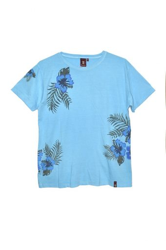 S18T007    0055 T-SHIRT HAWAII 100%CO Blu Topazio - Light Blue