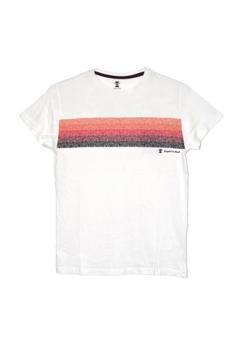 S18T008    0016 T-SHIRT RAINBOW 100%CO Off White