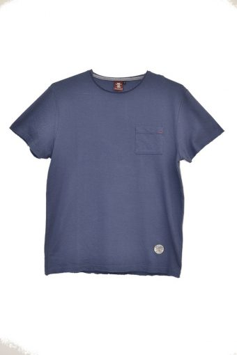 S18T014    0002 T-SHIRT JACQUARD 100%CO Blue