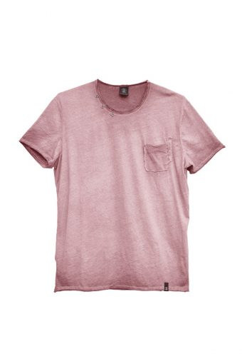 S18T016    0066 T-SHIRT CLOCHARD 100%CO Fandango - Pink