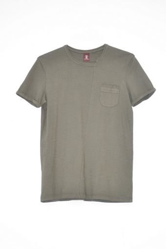 S18T018    0071 T-SHIRT CLOCHARD 100%CO Military Green