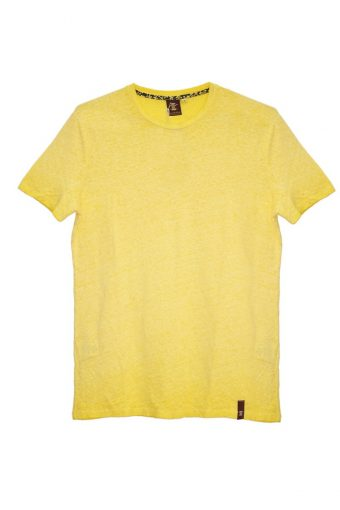 S18T019    0010 T-SHIRT LINO 100% LINEN Yellow
