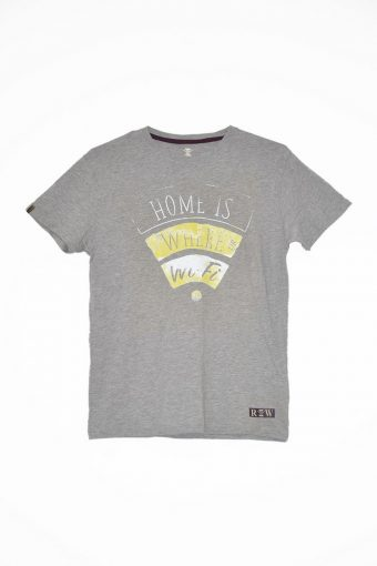 S18T022    0037 T-SHIRT ICONS03 100%CO Grey Melange