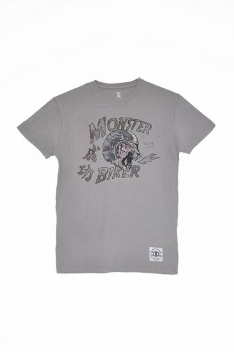 S18T028    0061 T-SHIRT MOTOR03 100%CO Gray