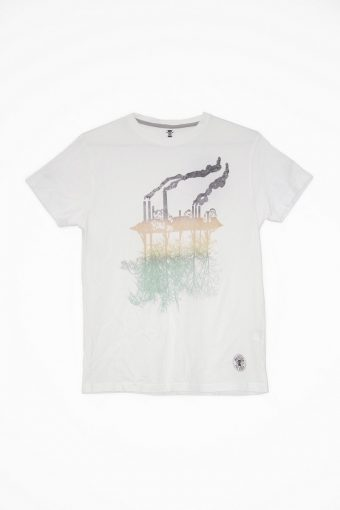 S18T045    0016 T-SHIRT ECOLOGY04 100%CO Off White