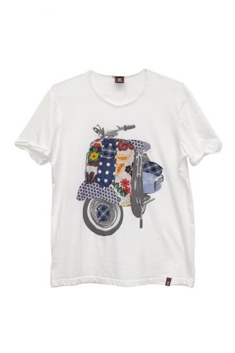 S18T049    0016 T-SHIRT SCOOTER 100%CO Off White