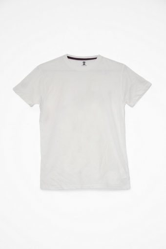 S18T055    0016 T-SHIRT BASIC SOLID 100%CO Off White