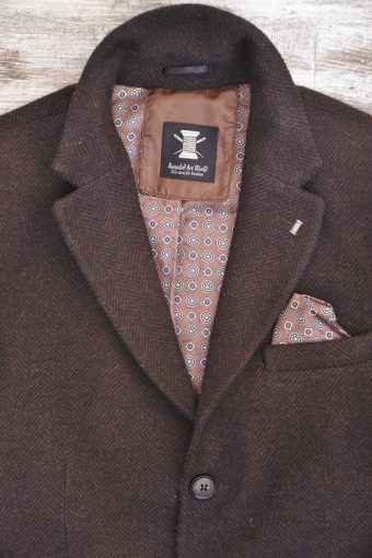 A18J003    0080 PARIS OVERCOAT - 20%MA 70%PL 10%WV Orange