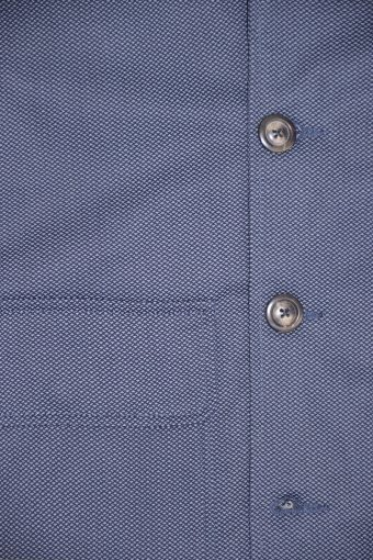 A18J010    0002 AOP FAKE COAT - 98%CO 2%SPONDEX SATIN Blue